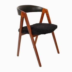 Dänischer Vintage Beistellstuhl aus Teak, 1960er