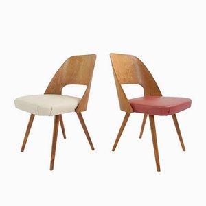 Modell 3D Esszimmerstühle aus Schichtholz von Eero Saarinen, 1950er, 2er Set