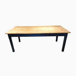 Mesa de comedor vintage azul