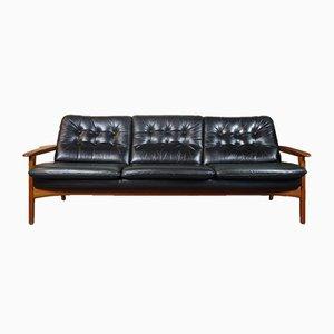Dänisches Mid-Century 3-Sitzer Sofa mit Gestell aus Teak, 1960er