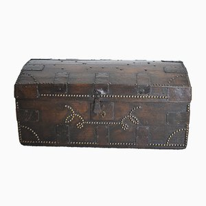 19th Century English Iron and Oak Trunk from William Millard