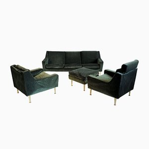 French Living Room Set by Michel Mortier, 1950s, Set of 4
