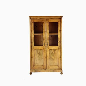 Antique Biedermeier Walnut Veneer Cabinet from Franconia, 1830s