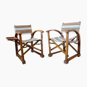 Art Deco Folding Lounge Chairs from Erbacher Erzeugnis, Heimrich Hammer, 1930s, Set of 2