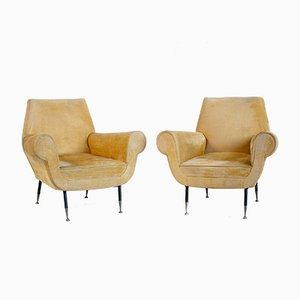 Mid-Century Italian Armchairs by Gigi Radice, 1950s, Set of 2