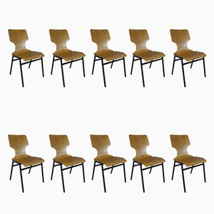Vintage Stackable Dining Chairs, 1970s, Set of 10