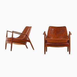 Modell Sälen Lehnstühle von Ib Kofod-Larsen für OPE, 1950er, 2er Set