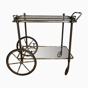 French Brass Trolley by Maison Bagues, 1950s