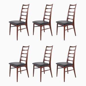 Beistellstühle aus Palisander von Niels Koefoed für Koefoeds Møbelfabrik, 1960er, 6er Set