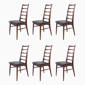 Rosewood Side Chairs by Niels Koefoed for Koefoeds Møbelfabrik, 1960s, Set of 6