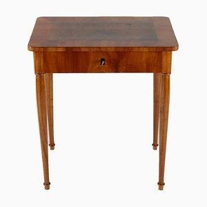 Mesa auxiliar Biedermeier de madera de cerezo y nogal, década de 1810
