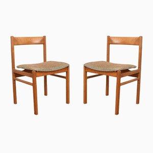 Dänische Mid-Century Esszimmerstühle aus Teak, 1960er, 2er Set