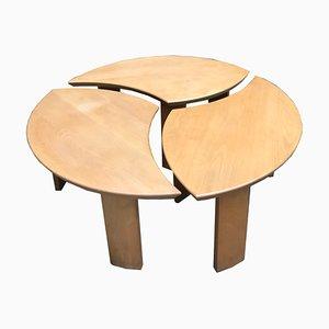 Tables Basses Vintage par Pierre Chapo pour Selz, 1970s, Set de 3