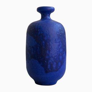 Indigoblaue Keramikvase, 1950er