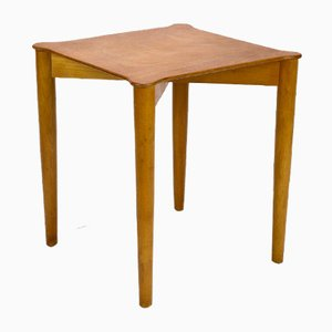 Table d'Appoint en Hêtre par Peter Hvidt & Orla Mølgaard-Nielsen pour Fritz Hansen, Danemark, 1950s