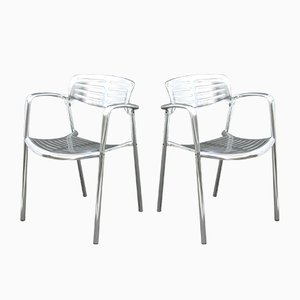 Aluminum Side Chairs by Jorge Pensi for Amat3, 1980s, Set of 4