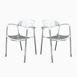 Beistellstühle aus Aluminium von Jorge Pensi für Amat3, 1980er, 4er Set