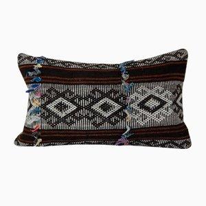 Brauner Kelim Kissenbezug aus Ziegenhaar von Vintage Pillow Store Contemporary