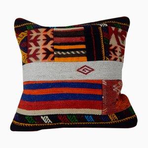 Funda de cojín alfombra turca vintage de retales de Vintage Pillow Store Contemporary