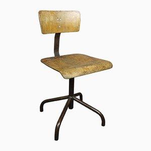Silla de escritorio industrial vintage, años 60