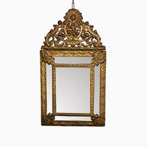 Specchio da parete Napoleone III in ottone, Francia