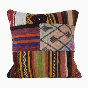 Funda de cojín de alfombra turca hecha a mano de Vintage Pillow Store Contemporary