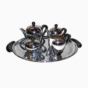 Servizio da tè Bombè di Alessi, anni '40
