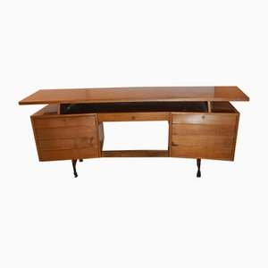 Vintage Italian Walnut Desk from Cattelan, 1950s