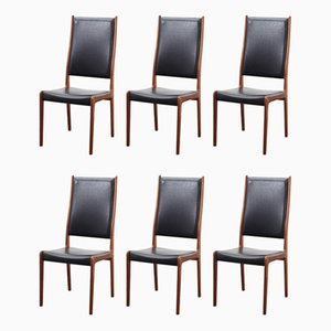 Mid-Century Dining Chairs by Johannes Andersen for Uldum Møbelfabrik, Set of 6