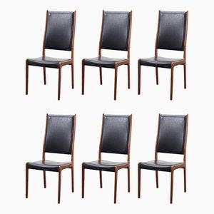 Mid-Century Esszimmerstühle von Johannes Andersen für Uldum Møbelfabrik, 6er Set