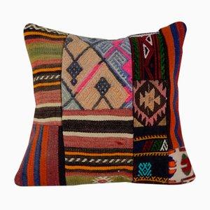 Dekorativer Patchwork Kelim Kissenbezug von Vintage Pillow Store Contemporary