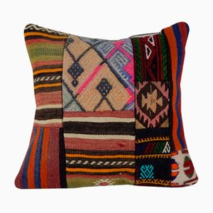 Federa decorativa Kilim in stile patchwork di Vintage Pillow Store Contemporary