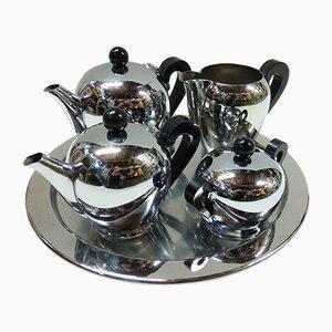 Servizio da caffè o da tè modello Bombè di Alessi, anni '40