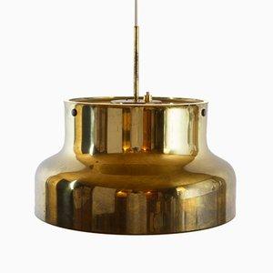 Lámpara colgante sueca grande de latón de Anders Pehrson para Ateljé Lyktan, años 60