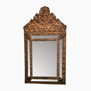 Specchio a muro Napoleone III in ottone, Francia, metà XIX secolo