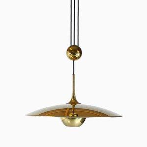 Lampe à Suspension à Contrepoids Modèle Onos 55 en Laiton par Florian Schulz, 1970s