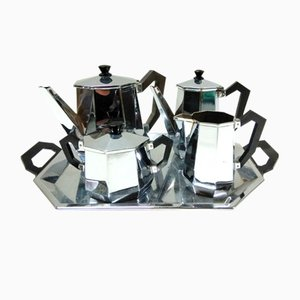 Model Ottagonale Coffee or Tea Service from Alessi, 1940s
