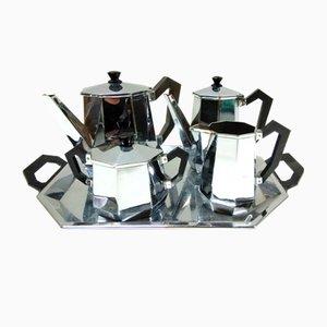 Servizio da caffè o da tè modello Ottagonale di Alessi, anni '40
