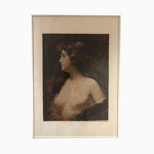 Antikes Portrait von A. Piot für Braun Clément et Cie