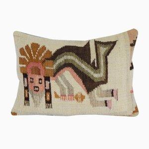 Handgeknüpfter türkischer Lumbar Kelim Kissenbezug von Vintage Pillow Store Contemporary