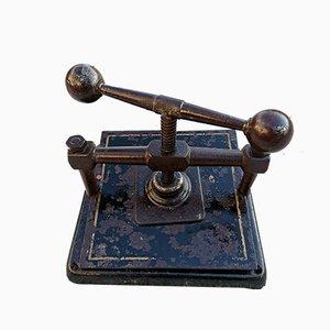 Antike Buchbinderpresse aus Eisen, 1800er