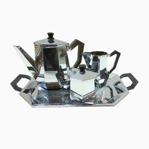 Servizio da tè Ottagonale di Alessi, anni '40