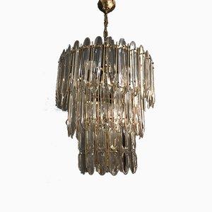 Lámpara de araña Mid-Century de cristal de Murano de Gaetano Sciolari, años 70