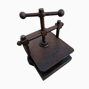 Antiker Buchbinderpresse aus Eisen
