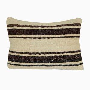 Gestreifter Lumbar Kelim Kissenbezug von Vintage Pillow Store Contemporary