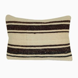 Organic Striped Lumbar Kilim Pillow Cover by Vintage Pillow Store Contemporary