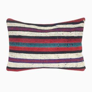 Housse de Coussin Kilim Lumbar Rayée par Vintage Pillow Store Contemporary, Turquie