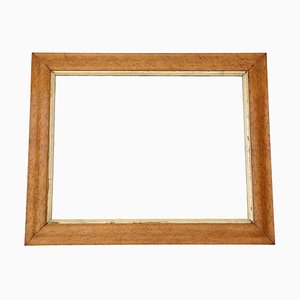 Antique Victorian Maple Overmantle Mirror, 1880s