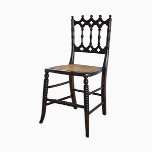 19th Century Turned Walnut and Cane Side Chair