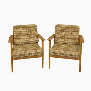 Braune Mid-Century Sessel, 1960er, 2er Set